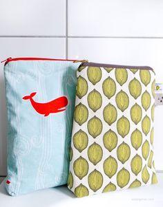 Nähanleitung Shampoo Täschchen   mit Duschvorhangstoff gefüttert   kostenloses Schnittmuster   waseigenes.com DIY Blog