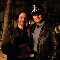 """Jack Coleman's tweet:  """"Somewhere in Chicago, sometime last week, some minutes after midnight. With some guy named Patrick. """"  It looks like Jack Coleman is going to guest star in an episode of Chicago PD. He's with Patrick John Flueger. Source: http://bit.ly/1ydHzpy"""