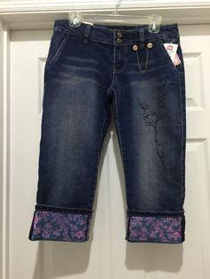 EckoRed Haze Cuffed Pants Indigo New Junior's Size 9 6579059 - Capris See Photos #EckoRed #CapriCropped