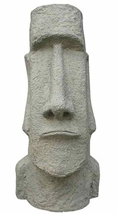 Easter Island Head Statue. 11.42'' L x 10.94'' W x 24.8'' H