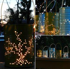 Tin Can Lanterns Collage 02