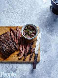 FLANK STEAK WITH OLIVE TAPENADE