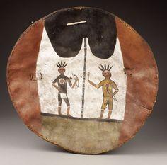 American Indian Art, A PUEBLO PAINTED BUFFALO HIDE SHIELD. . c. 1800. ... Image #1