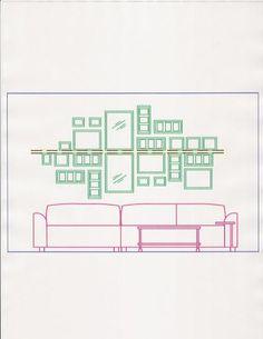Excelentes ideas - Cómo decorar la pared con cuadros - Casa Haus