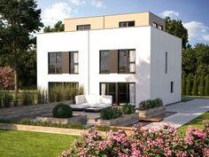 Doppelhaus Duo 160 • Doppelhaus von Bärenhaus • Attraktives Fertighaus mit Vorbauten im Obergeschoss • Jetzt bei Musterhaus.net kostenlos Infos anfordern!