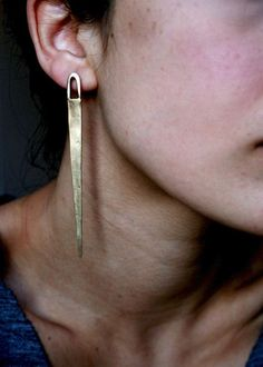 As worn by TYRA BANKS Pinpoint Handcrafted brass by RellikJewelry
