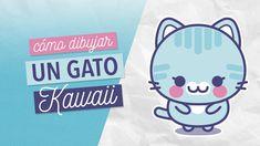 Cómo dibujar un gato kawaii paso a paso. How to draw a cute cat easy step by step. Cat Drawing, Drawings, Easy, Cute, Gatos, How To Draw, Step By Step, Kawaii Drawings, Kawaii