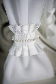 Μένη Ρογκότη - Μπομπονιέρα γάμου τούλινη με πέρλες Napkin Rings, Victorian, Bb, Dresses, Home Decor, Fashion, Vestidos, Moda, Decoration Home