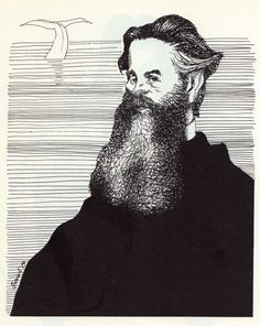 Tullio Pericoli Herman Melville, author of Moby Dick High Renaissance, White Whale, Italian Painters, Man Images, Learning Italian, Caricature, Great Artists, Illustrations Posters, Writer
