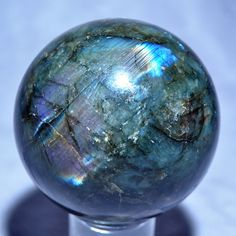 Labradorite 3.3 inch 1.97 lb Natural Crystal Sphere - Madagascar