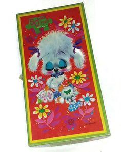 50s POODLE PUZZLE SLEEPYHEAD Cute Kitsch Poodles Bows Mom & Puppy Dog Rockabilly 1950s Mid Century Toy Mod Kawaii Decor Baby Girls Nursery(Etsy のPopcornVintageByTannより) https://www.etsy.com/jp/listing/564249219/50s-poodle-puzzle-sleepyhead-cute-kitsch