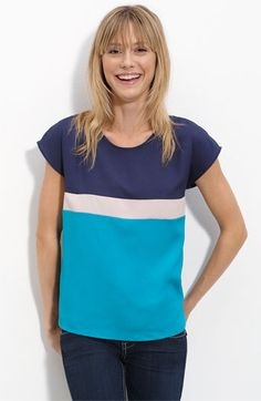 Dee&Ray 'Celine' Colorblock Top #nordstroms $38