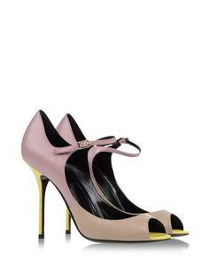 Pierre Hardy pastel ombre peep-toe Mary Janes. #shoes #fashion #itspringagain