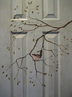 Painted Doors | Whimseybox. Thinking of doing this on the front door