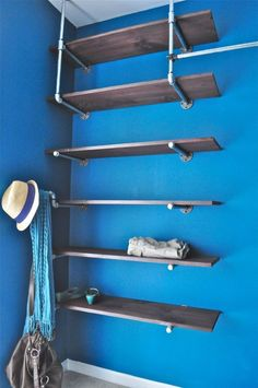 How To Build An Industrial Chic Closet Organizer - Plumbing Pipe Closet Organizer Domestiphobia