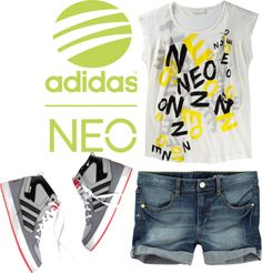 """""""Adidas NEO"""" by mylo-storm on Polyvore"""