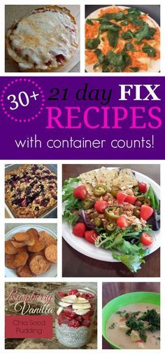 Clean Eating Meal Plans for Beginners - OVER thirty 21 Day Fix Recipes for breakfast, lunch, and dinner with container counts! This list i - Clean Eating Dinner, Clean Eating Recipes, Diet Recipes, Healthy Eating, Healthy Recipes, Lunch Recipes, Fixate Recipes, Healthy Lunches, Healthy Cooking