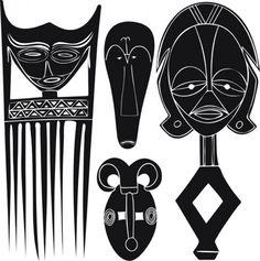 Diseño de elementos africanos | Descargar Vectores gratis