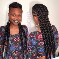 Unique braided mohawk