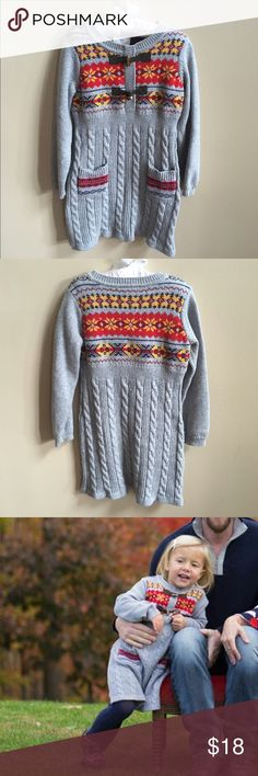Hanna Anderson Size 100 (4T) Sweater Hanna Anderson Size 100 (4T) Sweater. Toggle button closure. Fair isle pattern. EUC.  From a non-smoking and pet free home. Hanna Andersson Dresses Casual