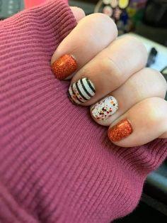 Fall Toe Nails, Fall Nail Art, Nail Color Combos, Fall Nail Colors, Cute Nails, Pretty Nails, Happy Nails, Halloween Nails, Short Nails