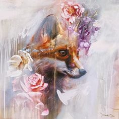 Young entrepreneur and classically trained painter Dimitra Milan, is challenging traditional ideas of how artists reach and engage with collectors and audiences. Art And Illustration, Illustrations, Dimitra Milan, Fuchs Tattoo, Easy Canvas Art, Fox Art, Portrait Art, Abstract Portrait, Portrait Paintings