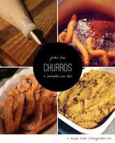 Gluten-free churros (just in time fo Cinco de Mayo!) and pumpkin pie dip