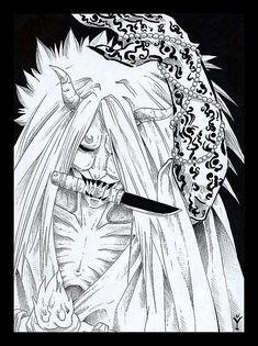 Death god- from naruto Naruto Drawings, Naruto Art, Anime Naruto, Naruto Tattoo, Anime Tattoos, Naruto Shippuden Sasuke, Itachi Uchiha, Boruto, Shinigami