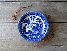 Blue Willow Bowls by oldschoolfarm on Etsy, $32.00