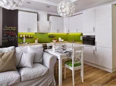 22 идеи интерьера кухни-гостиной 18 кв. м