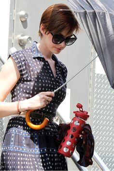 """Anne Hathaway on the """"Song One"""" Set 