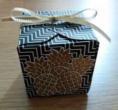 Gouden ananasdoosje met Pop of Pink designer series paper - Het Knutsellab - Stampin Up #stampinup #crafts #knutselen #stempelen