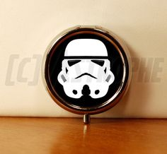 Stormtrooper Design Pill Case - Silver 1 Compartment Pill Mint Candy Box - Purse Accessory - Star Wars. $6.50, via Etsy.