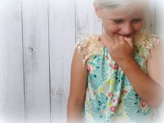 Cotton and Lace Girls Dress teal/ red floral by LittleMacsClothing, $35.00 Girls Lace Dress, Girls Dresses, Summer Dresses, Flower Sleeve, Chiffon Flowers, Little Miss, Fabric Design, Hair Bows, Hair Clips