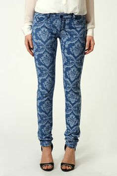 Sierra Embroidered Flower Skinny Jeans