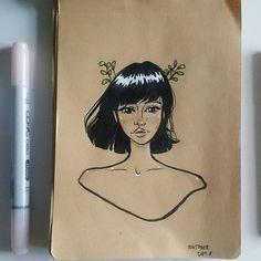 ✒ #inktober#illustration#ink#inktober2017#challenge#drawing#sketch#art#artbook#aketchbook#polishart#polishgirl#nataterart#oc#cute#ikustracja#nature#szkicownik
