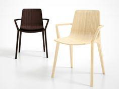 Sedia in multistrato con braccioli Collezione Seame by Infiniti by OMP Group | design Klaus Nolting