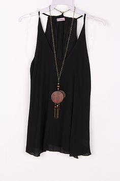 Silky Laurel Shirt in Black on Emma Stine Limited