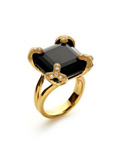 Soiree Onyx & Diamond Ring by Di MODOLO at Gilt