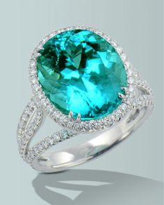 Spectacular Paraiba Tourmaline | Engagement Rings Fine Gemstones Gold Platinum Designer Jewelry