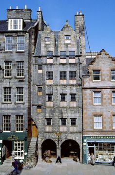 Gladstone's Land, Edinburgh. Scotland. Situated on the Royal Mile this 17th century house was named after Thomas Gledstane who lived here with his wife Bessie Cunningham. Restore  to traditional Scottish life and how they would have lived in the 16th/17th century