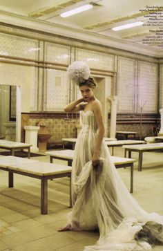 """To Russia With Love""  Photographer: Mario Testino/Model: Natalia Vodianova"
