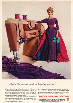 1960 sewing machine advertisement