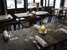 Commercial restaurant - table setting detail.