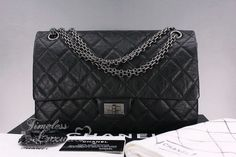 74aded8a5f27 CHANEL Black Aged Calf 2.55 Reissue 226 Ruthenium Hw. Timeless Luxuries