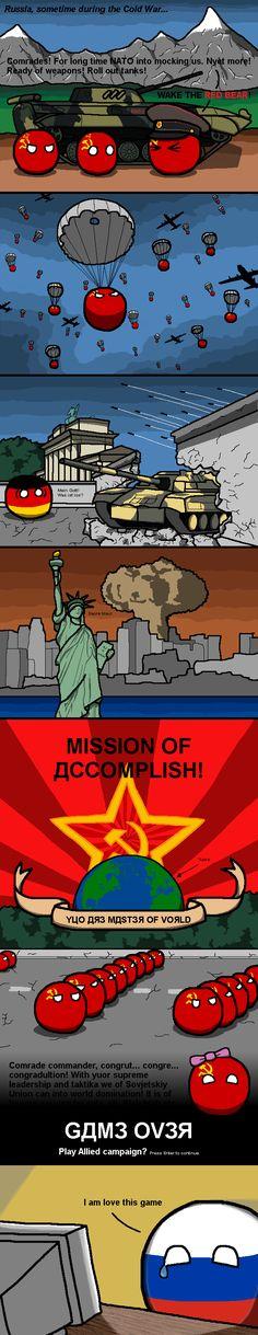 """soviet supremacy"" by johanhagglof #polandball #countryball #flagball"