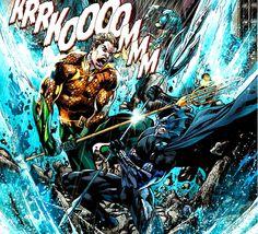Aquaman vs Ocean Master by Ivan Reis Marvel Dc Comics, A Comics, Justice League Comics, Ocean Master, Black Manta, Sub Mariner, Comic Reviews, Batman Art
