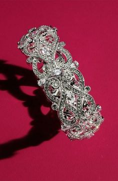 There is no such thing as too much sparkle on your wedding day   crystal bangle