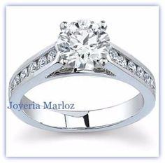 anillos de compromiso diamante natural .45ct gh vs