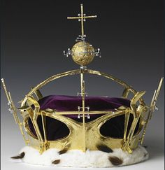 Coronet of Charles, Prince of Wales : The crown worn by Britain's Prince Charles at his Investiture as Prince of Wales at Caernarfon Castle on July 1, 1969. The coronet, designed by Louis Osman, is part of the exhibition 'HRH The Prince of Wales: An Exhibition to Celebrate his Sixtieth Birthday.'